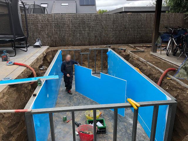 zelfbouwzwembad in handig pakket